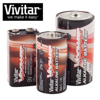 Vivitar C/D/9V Batteries - 20 Piece