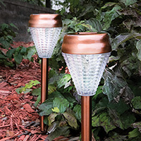 Fortune 8 Copper Solar Stake Lights - 6 Pack