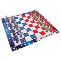 Bulbhead 2020 Battle For The White House Chess Set
