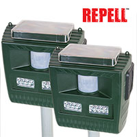 Repell 3-in-1 Solar Animal Repeller - 2 Pack