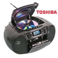Toshiba TY-CKM39 CD/Cassette Player Boombox with Radio