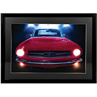 3D LED Wall Art - Mustang