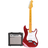 Spectrum AIL 278C Electric Guitar & AMP - Red