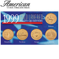 Gold State Quarters