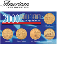 2000 Gold State Quarters