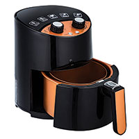 2.6 Qt. Black & Copper Air Fryer