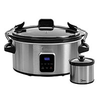 Midea 6 Qt. Slow Cooker Warmer with LED Screen