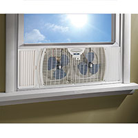 Westpointe Twin Window Fan with Reverse