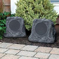 Innovative Technology 5 Watt Solar Outdoor Rock Speakers