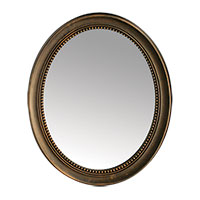 Antique Bronze 27 inch Framed Oval Mirror