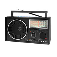 Technical Pro Solar Powered AM/FM/Shortwave Radio with Bluetooth