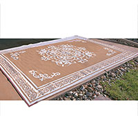Caribou Creek Carmel & Tan JD-168 Outdoor Rug - 5 x 8'