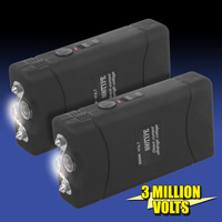 Stun Gun with Flashlight - 2 Pack