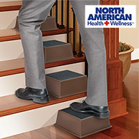 North American Health & Wellness 3 Stair-Assist Half Step