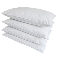 Chamonix Standard Down Pillows - 4 Pack
