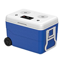 BCoolerR 55 Quart Bluetooth Cooler with Power Bank - Blue