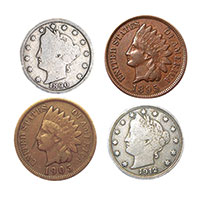 Turn of the Century Pennies & Nickels
