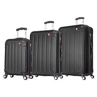 Dukap 3 Piece Luggage Set with USB & Scale