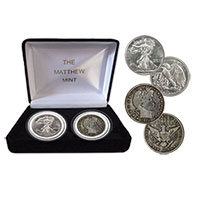 Matthew Mint Barber/Liberty Half Dollar Set