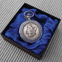 The Matthew Mint Classic Morgan Silver Dollar Pocket Watch
