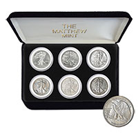 The Mathew Mint Walking Liberty Coin Set
