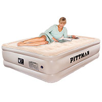 Pittman Outdoors Queen Double High Air Mattress with Pump