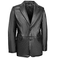 Burks Bay Men's Black Leather Blazer