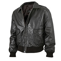 Burks Bay Men's Black Lambskin Bomber Jacket