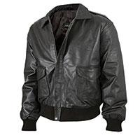 Burks Bay Men's Black Lambskin Bomber Jacket