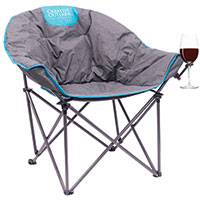 Creative Outdoors Folding Moon Bucket Chair with Wine Glass Holder
