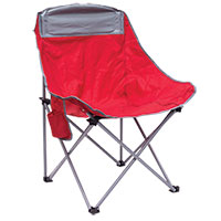 Creative Outdoors Red Bucket Style Folding Chair