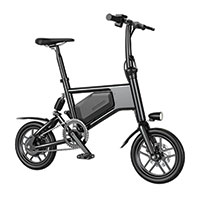 Glare Wheels Urban Folding Pedal Bike - Black