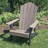 AmeriHome 2-Tone Composite Adirondack Chair