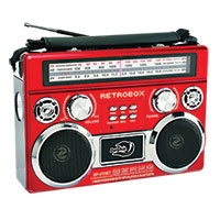 Dolphin RETROBOX Portable Red Mini Speaker