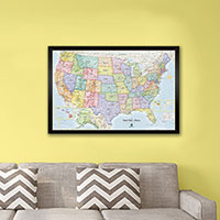 Winding Hills Designs U.S. Magnetic Map