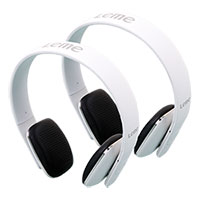 White Leme EB20A Bluetooth Headphones - 2 Pack