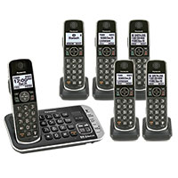 Panasonic 6 Handset Dialer Bluetooth Phone