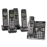 Panasonic 5-Handset System with Voice Assist