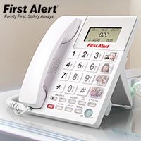 First Alert SFA3275 Big Button Emergency Phone with 1-Touch SOS Key