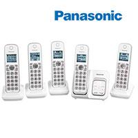 Panasonic 5-Handset Cordless Phone System