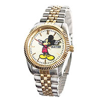 Disney Mickey Mouse Two-Tone Watch- Men's