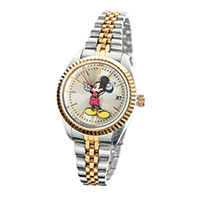 Disney Mickey Mouse Two-Tone Watch- Women's