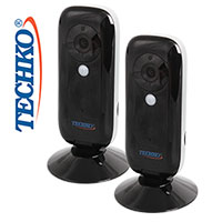 Techko V15 Pro HD WiFi Camera - 2 Pack