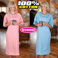 Womens Plus Sleepshirt Set