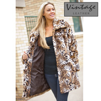 Womens Faux Leopard Coat