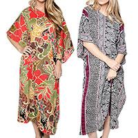 Kimono Floral Women's Caftans - 2 Pack