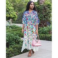 Winlar Women's Bright Floral Caftans