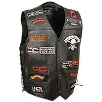 Men's Full Leather Vest