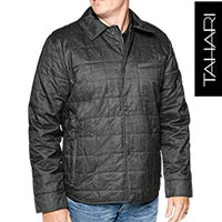 Tahari Men's Charcoal Quilted Jacket