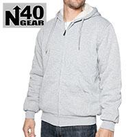 Men's Grey Sherpa Lined Hoodie